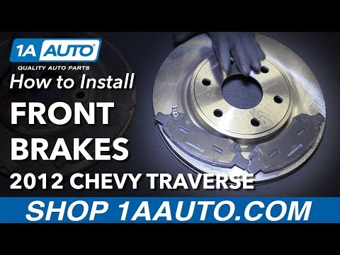 How to Install Replace Front Brake Pads Rotors 2009-16 Chevy Traverse