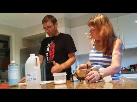 Bathroom cleaning scrub using doTerra essential oils