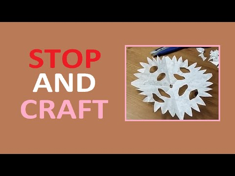 Make a Festive Snow Flake Decorations from Coffe Filters