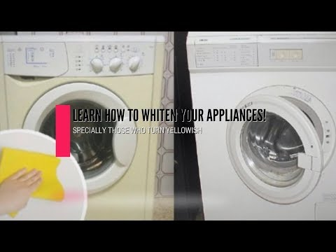 Learn How To Whiten The Color Of Your Appliances That Became Yellowish