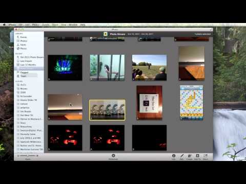 How to use Photostream with iPhoto