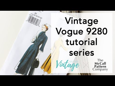 Vintage Vogue V9280, Video Series!   Vintage on Tap
