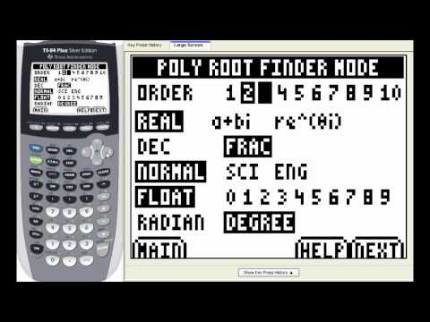 Lesson: Solving polynomial equations on the TI-84