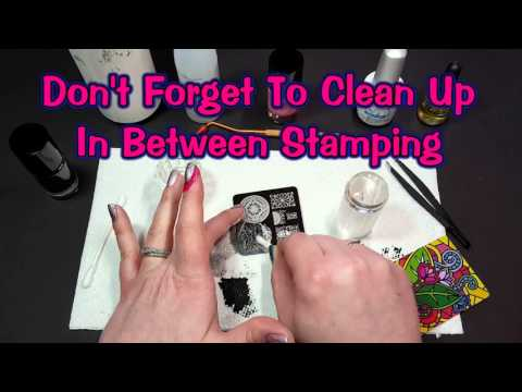 DIY How To Stamp Over Gel Polish