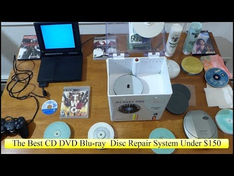 JFJ Easy Pro The Best CD DVD Blu-ray Game Disc Repair Resurface Scratch Removal Under $150 Review