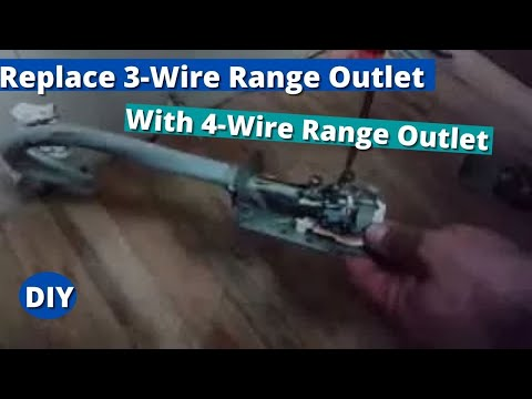 How to Replace 3-Wire Range Outlet With 4-Wire Range Outlet.