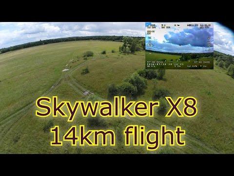Skywalker X8 - Long range flight (14 km) - PlayItHub Largest Videos Hub