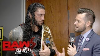 Reigns sends his family a message after his Intercontinental Title win: Raw Fallout, Nov. 20, 2017