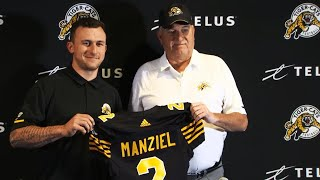 Johnny Manziel thankful, self-aware signing with Hamilton Tiger-Cats