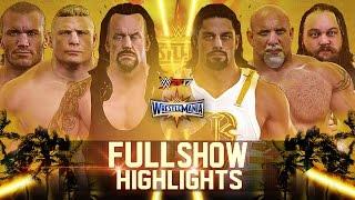 WWE 2K17 - Wrestlemania 33 Full Show   Match Highlights