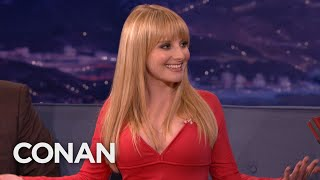 Melissa Rauch Posed As A Kid To Get Cheap Movie Tickets - CONAN on TBS