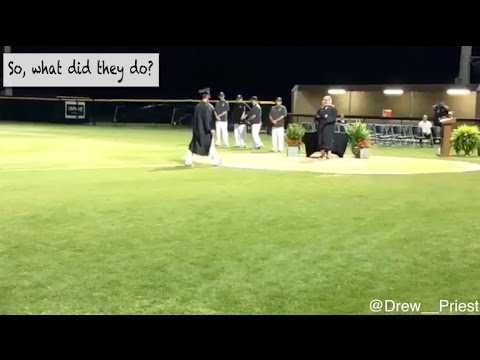Baseball team holds graduation after their game