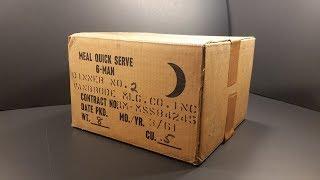 1961 Meal Quick Serve 6 Man MRE 7,200 Calorie Prototype Ration Review Oldest Cigarette & Food Test