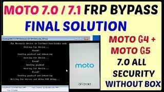 Motorola XT1643 Moto G4 Plus 7 0 Frp unlock one click new