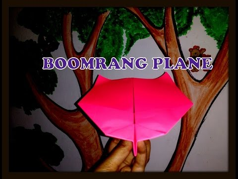 How to make paper plane model that really comes back- Boomerang Paper Plane.
