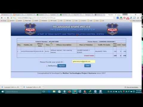 how to pay hyderabd traffic chllan payment online internet banking