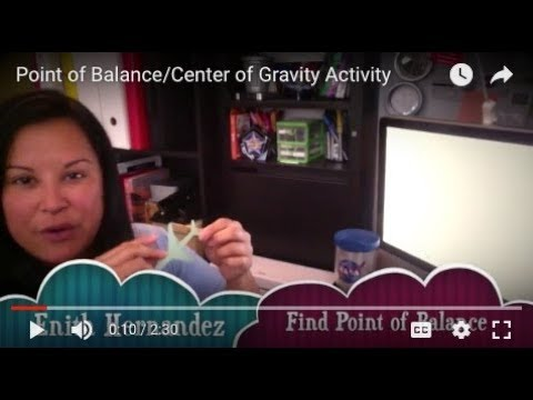 Point of Balance/Center of Gravity Activity