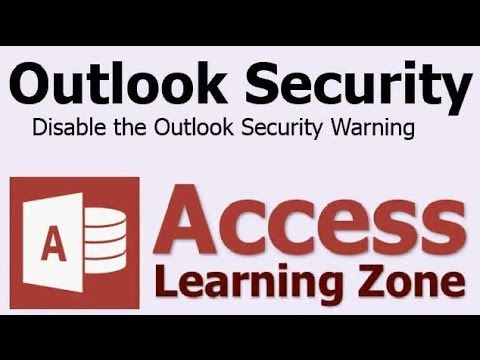Disable Outlook Security Warning when Sending Email via Microsoft Access