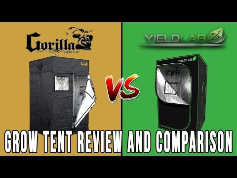 Gorilla Grow Tent Lite vs Yield Lab: Grow Tent Review and Comparison