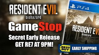 RESIDENT EVIL 7 NEWS | GameStop Secret Early 9pm RE7 Release | Game Launch Update