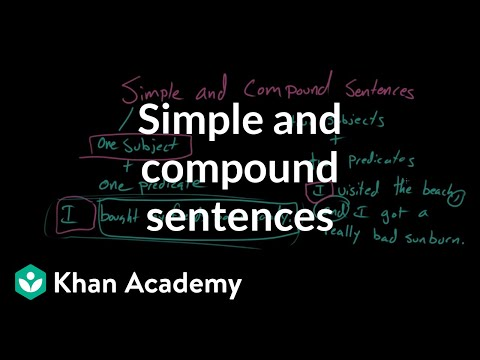 Simple and compound sentences | Syntax | Khan Academy