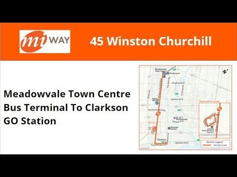 MiWay 2003 New Flyer D40LF #334 On 45 Winston Churchill (Meadowvale TCBT To Clarkson GO)