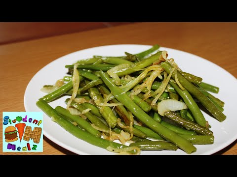 How to make GREEN BEANS (PAN FRIED)