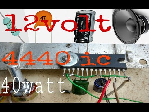 how to make 12v audio amplifier circuit 40watt use ic LA4440 ( In hindi 100% working )