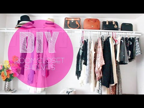 DIY Room Closet Shelves