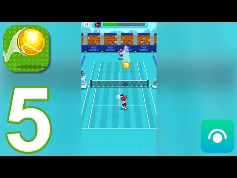 One Tap Tennis - Gameplay Walkthrough Part 5 - Season 1: Moscow, Los Angeles (iOS, Android)