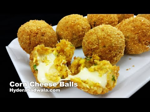 Corn Cheese Balls Recipe Video - How to Make Corn Cheese Balls at Home - Quick Evening Snacks
