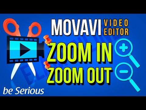 How To Zoom In Zoom Out Edit A Video In Movavi Video Editor | Pin Zoom In Pin Zoom Out