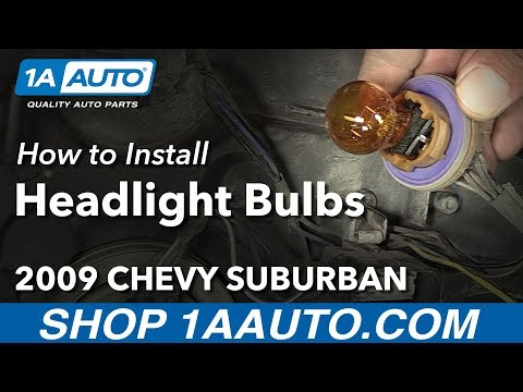 How to Replace Headlight and All Front Bulbs 2009 Chevy Suburban