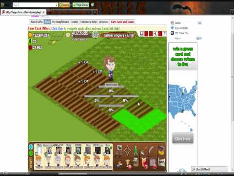 Facebook Farm Town plow-overlapping / stacking fields.