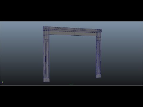 [TMELASPE] Interior Design  in Autodesk Maya Series 1 [P3 Door Frame]