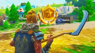 """Follow the Treasure Map found in Risky Reels"" Location Fortnite Week 1 Challenges! (FORTNITE MAP)"