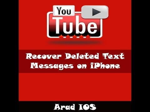 Recover Deleted Text Messages on iPhone 5/5c/5/4s/4/3gs/3
