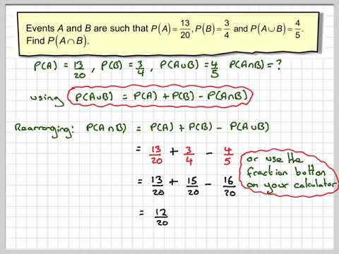 Probability of combination of events example