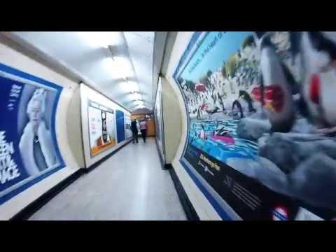 Walking through Camden Town Tube Station