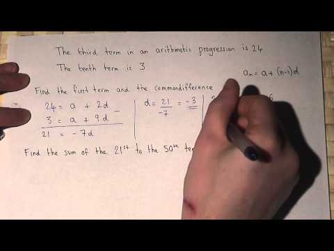 Arithmetic progressions : finding first terms and common difference