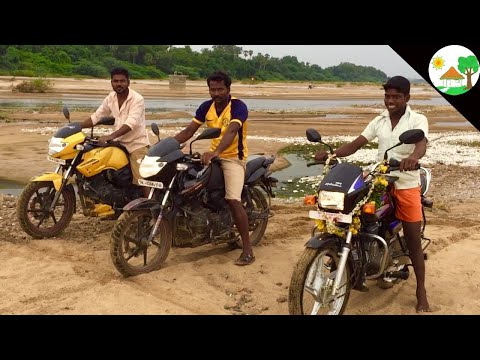 Bike Race in Village / BIKE RACE VIDEO in SAND / TVs Apache 160 Black Yellow / Funny Bike race video