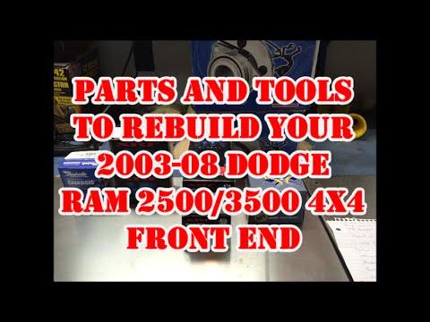 2003-2007 DODGE RAM 3/4 - 1 TON 4WD FRONT END REBUILD PART 1