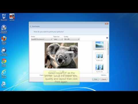 How to create a PDF photo album with novaPDF