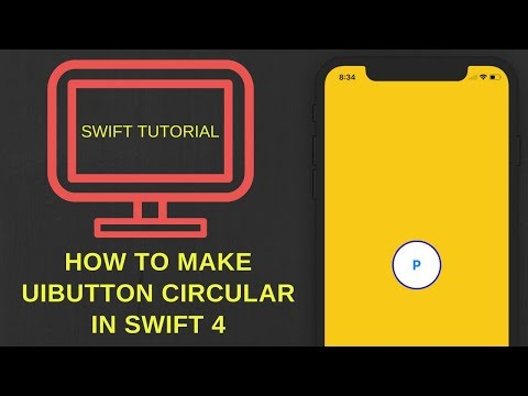 How to make UIButton circular in swift 4