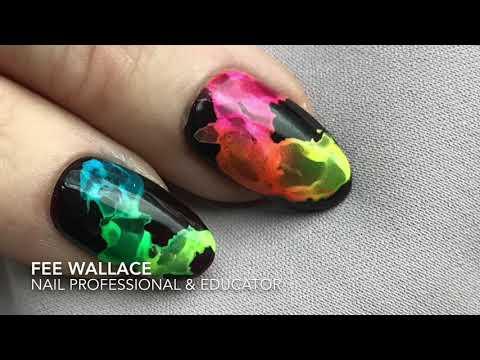 CND™ Shellac™ Smoke Nail Art with Lecenté™ Neons