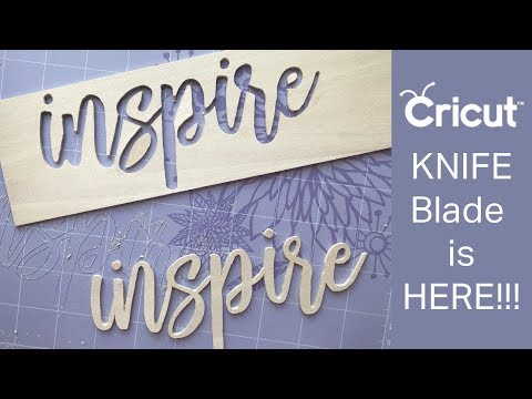 Cricut Knife Blade - Cutting Leather, Basswood, Chipboard and More