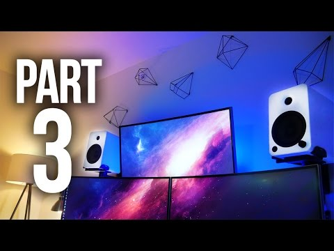 Building My INSANE Gaming Setup - Speakers & Cables! Part 3