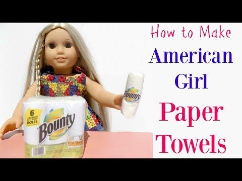 DIY American Girl Doll Paper Towels