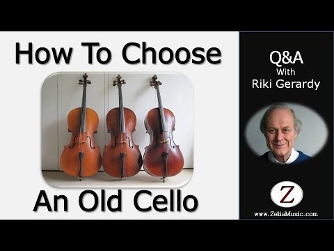 How to Choose An Old Cello | Zelia Ltd. | 020 8958 4456