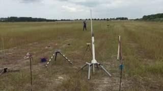 Model Rocket, cluster 4x D9-5